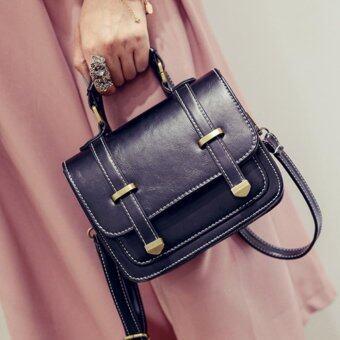 กระเป๋าหนัง PU สีดำ