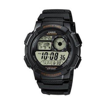 Casio Standard นาฬิกาข้อมือผู้ชาย สายเรซิ่น รุ่น AE1000W-1A - Black image
