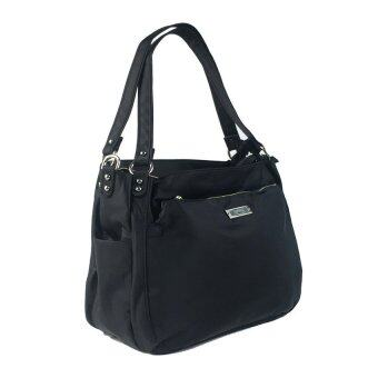 Epol กระเป๋าสะพาย 3 ช่อง สีดำ