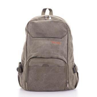 Bag Gammon Traveller กระเป๋าเป้แคนวาส (สีเขียว)