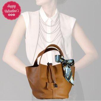 Nuchon Bag กระเป๋าสะพายแขน กระเป๋าถือ รุ่น Hermes Picotin Lock Bag Khaki Brow