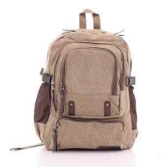 Bag Gammon กระเป๋าเป้แคนวาส (สีกากี)