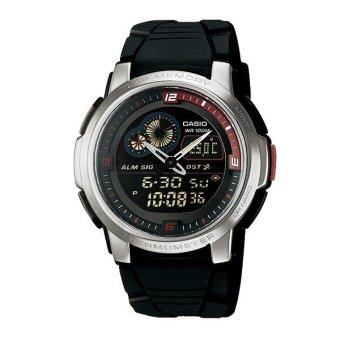 Casio Standard นาฬิกาข้อมือผู้ชาย สายเรซิ่น รุ่น AQF102W-1B - Black