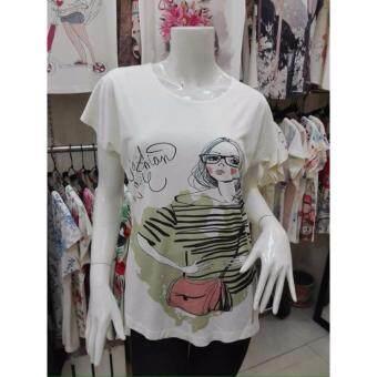 November T Shirts เสื้อยืดฟรีไซส์ เสื้อผู้หญิงสรีนลายน่ารัก รหัส L100 N008