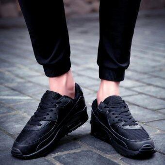 สตรีรองเท้าบุรุษหายใจอากาศกำลังสบาย ๆ รองเท้ารอง (สีดำ)