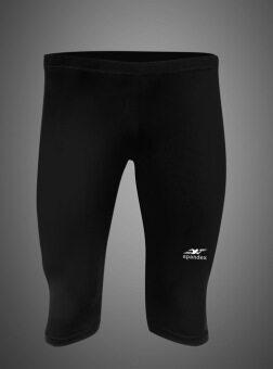 Spandex กางเกงรัดกล้ามเนื้อขา 3/4 S001HF (สีดำ)