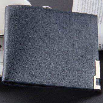 Nuchon Bag Baellerry กระเป๋าสตางค์ ผู้ชาย สีกรม รุ่น MENDarkBlue/Short
