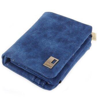 กระเป๋าสตางค์แบบเรโทร ๆ โซ่โปแลนด์ (สีน้ำเงิน)