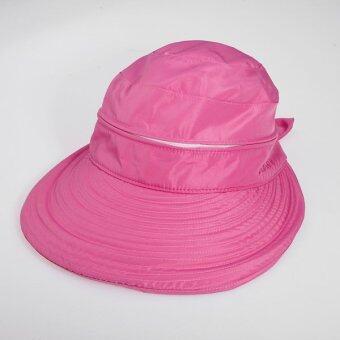 สาวร้อนเสื้อกอล์ฟแอนตี้ยูวีปีกกว้างหมวกหน้ากากหมวกหูกระต่ายหาดซัน (กุหลาบแดง)