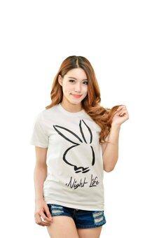 NOLOGO เสื้อยืด รุ่น กระต่าย (สีขาว)