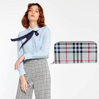 กระเป๋าสตางค์ใส่มือถือ Iphone6Plus สีครีม Nuchon Women Wallet Size L รุ่น Burberry