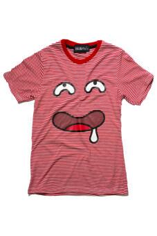 NOLOGO เสื้อยืดเด็ก รุ่น หน้าหื่น (สีริ้วแดง)