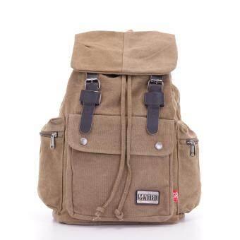 Bag Gammon กระเป๋าเป้ สะพายหลัง Vintage Army (สีกากี)