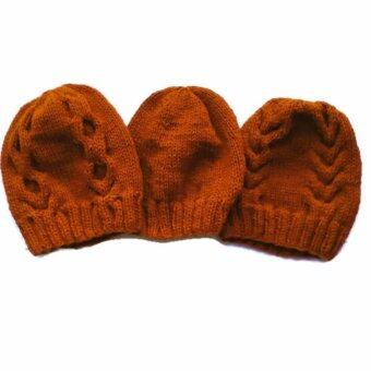 Handmade หมวกไหมพรมพระ3ใบลาย13 ลาย03และลาย02