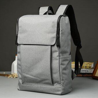 Japanese Korean Backpack Outdoors Rucksack Student School Bagu001F Leisure Bag Laptop Backpack Canvas Travel Bag -Grey - intl(...) ...