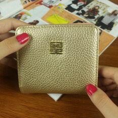 Jianyue หญิงเวอร์ชั่นภาษาญี่ปุ่นและภาษาเกาหลีสองพับกระเป๋าเงินกระเป๋าสตางค์ขนาดเล็ก (สีทอง) ราคา 120 บาท(-48%)