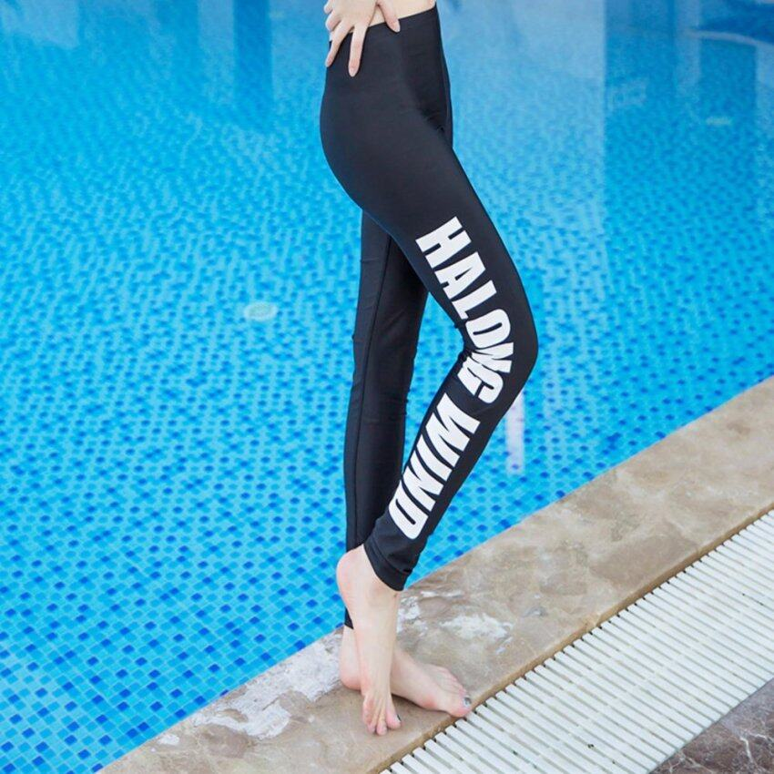 กางเกงว่ายน้ำขายาวผู้หญิง HALONG WIND สีดำ ไซส์ S-2XL # 16088