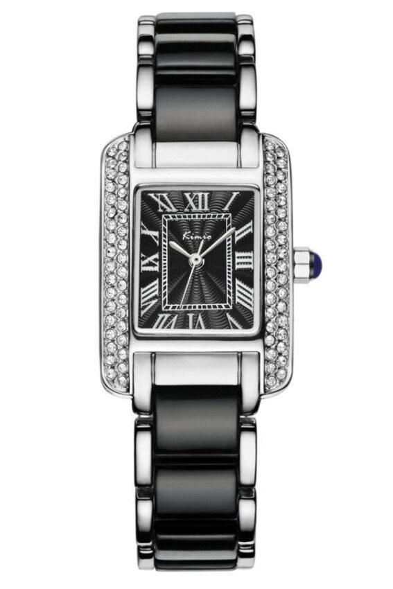รีบเลย Kimio นาฬิกาข้อมือผู้หญิง สีดำ/เงิน สาย Alloy รุ่น KW6036 ลดราคา