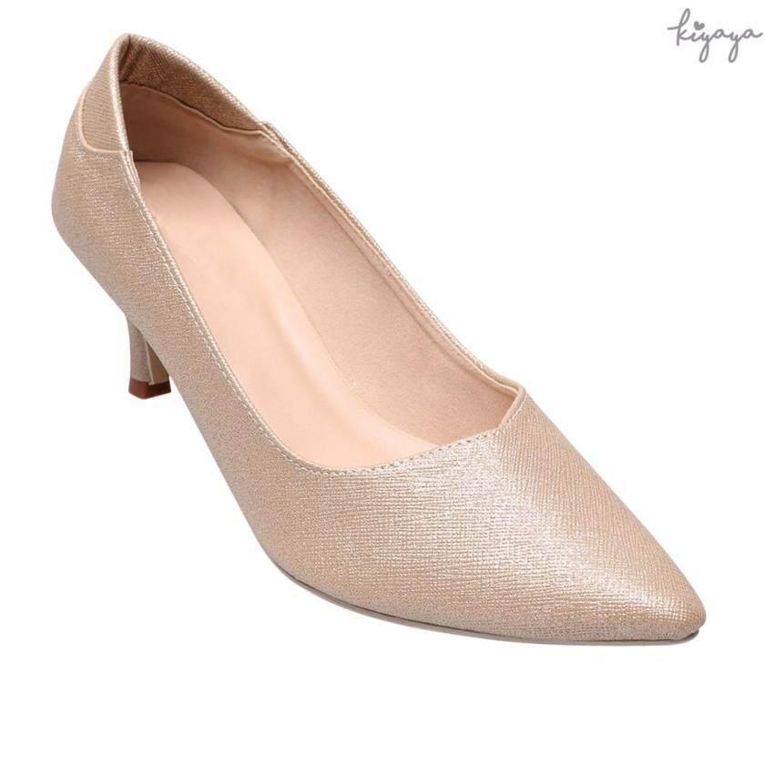Kiyaya รองเท้าส้นสูงแฟชั่นผู้หญิง รุ่น G18-05-Gold ...