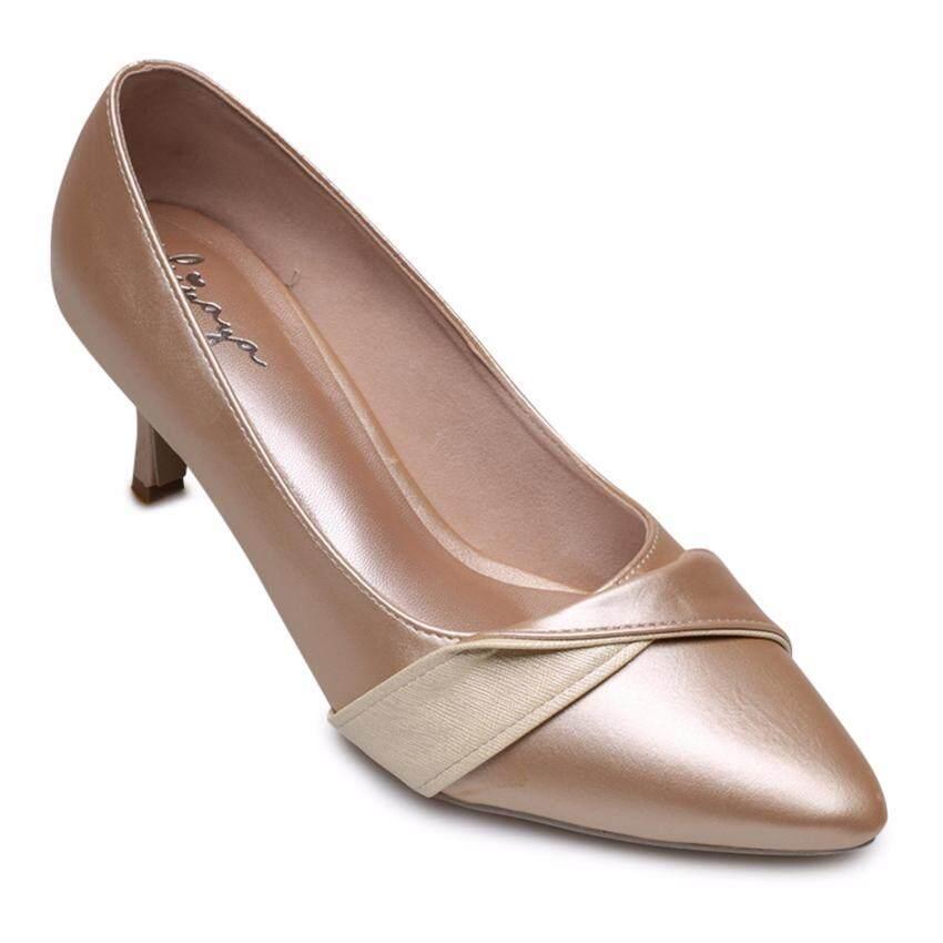 Kiyaya รองเท้าส้นสูงแฟชั่นผู้หญิง รุ่น TP-N03-60-Gold(ทอง) ...