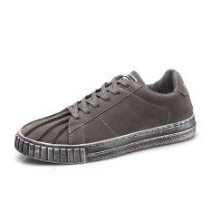Korean Fashion Mens Casual Canvas Shoes, Breathable Sports Shoes (grey) - Intl ราคา 589 บาท(-54%)