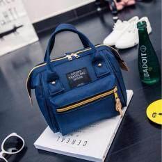 กระเป๋าเป้fashion กระเป๋าสะพายหลัง Backpack No.S2016 - Navy Blue