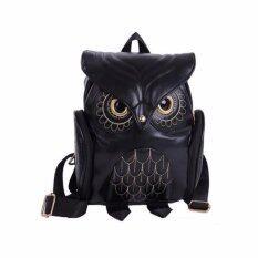 กระเป๋าเป้สะพายหลังทรงนกฮูก OWL สีดำ