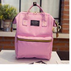 Kwang Fashion กระเป๋าเป้สะพายหลัง กระเป๋าแฟชั่นทรงAnello รุ่น034 (สีชมพูอ่อน)