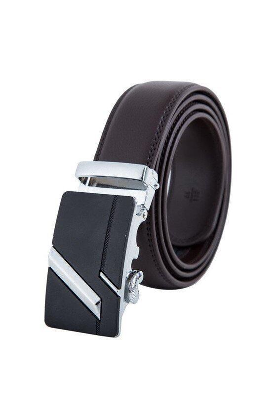 Man Automatic Buckle Genuine Leather Belt MBT1617-2 Coffee - intl