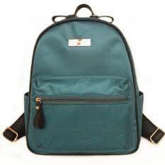 Mango TSAR Fashion Nylon ไนลอน Backpack กระเป๋าเป้สะพายหลัง - Green สีเขียว