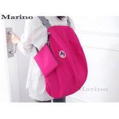 Marino กระเป๋าเป้ กระเป๋าสะพายข้าง กระเป๋าสะพายหลัง ผ้าร่ม No.0214 - Pink