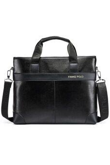 Matteo กระเป๋าโน๊ตบุ๊ค กระเป๋าเอกสาร รุ่น Polo FANKE Code 2011 - Black สีดำ