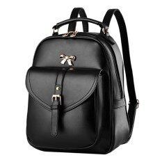 Maylin กระเป๋าเป้สะพายหลัง กระเป๋าเป้เกาหลี กระเป๋าเป้หนัง ผู้หญิง รุ่น MP-064 (สีดำ)