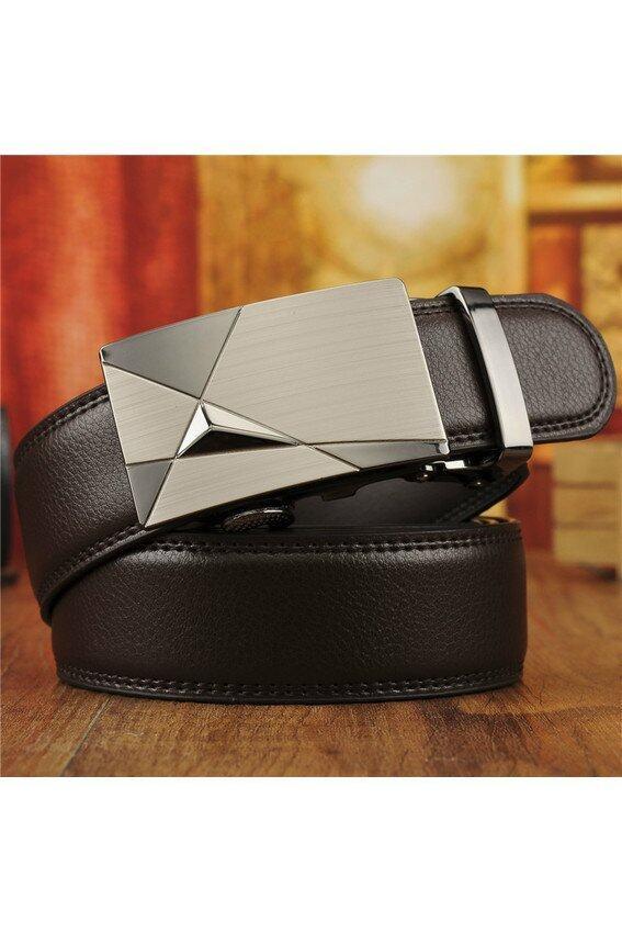 Men Automatic Buckle Fashion Business Belt(Brown) - intl