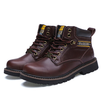 Men fashion boots Tooling shoes to help high-scrub leather snow boots