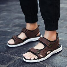 Mens Personality Comfortable Non-Slip Leisure Trend Daily Wear-Resistant Sandals - Intl ราคา 1,012 บาท(-47%)