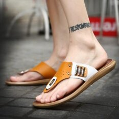 Mens Personality Comfortable Non-Slip Leisure Trend Daily Wear-Resistant Sandals - Intl ราคา 732 บาท(-45%)