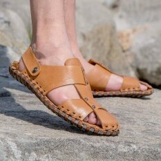 Mens Personality Comfortable Non-Slip Leisure Trend Daily Wear-Resistant Sandals - Intl ราคา 1,144 บาท(-47%)