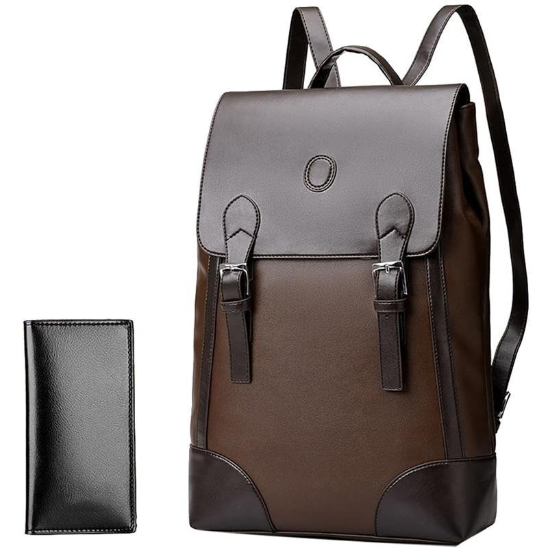 Men's Cassual Business Backpack with Wallet (Brown) - intl. >>>>