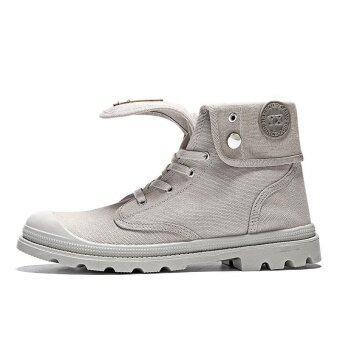 Men's Desert boots Fashion casual shoes Couple Boots Cowboy heel top boot - intl