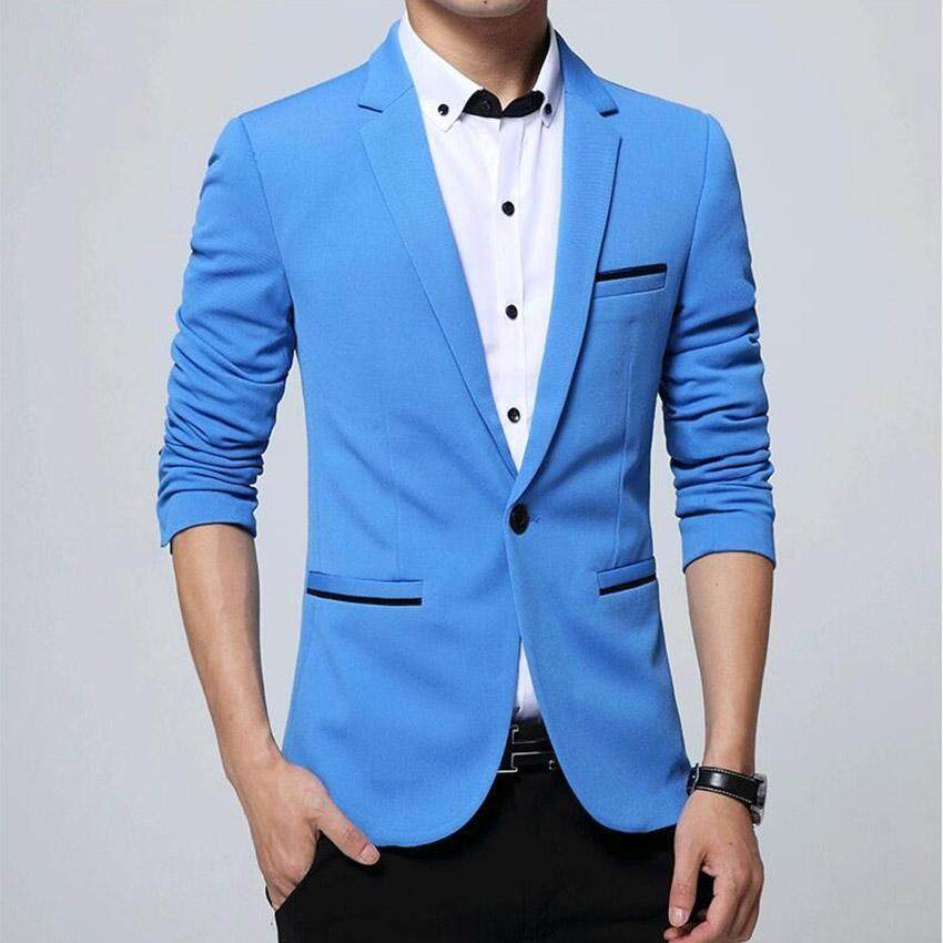 Mens Fashion Brand Blazers Casual Slim Fit Suits Jacket Male Blazers Mens Coat Wedding D ...