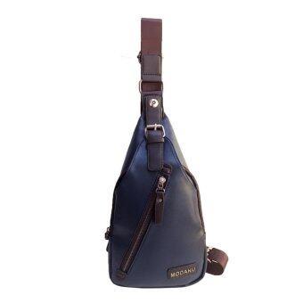 MODAKU กระเป๋าสะพายข้าง กระเป๋าคาดอก กระเป๋าหนัง Passenger Bag Shoulder Bag - Blue/สีน้ำเงิน