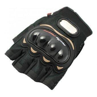 MOTO SPORT ถุงมือ (สีดำ/ดำ) ไซค์XL