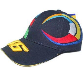 MOTO.GP Valentino Rossi 46 Baseball Hat Peaked Cap Motorcycle Hat (Dark blue)