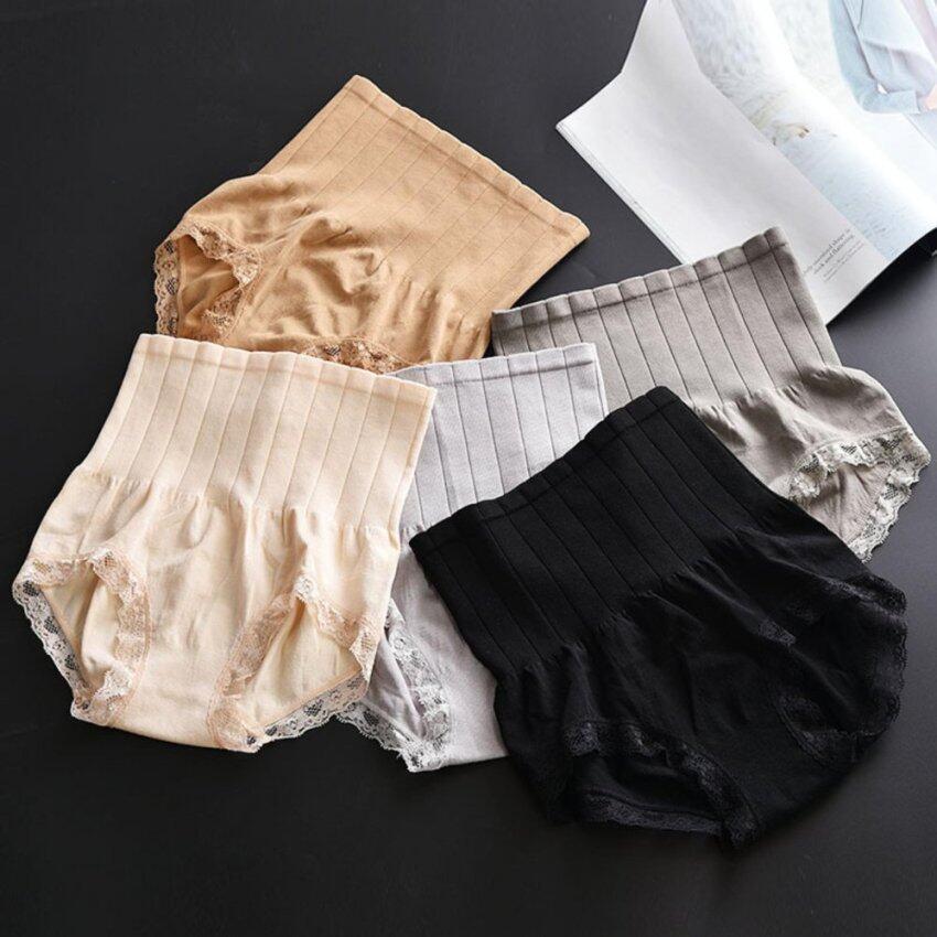 Munafie กางเกงกระชับสัดส่วน กางเกงในเก็บพุง กางเกงในลดไขมัน กางเกงกระชับสัดส่วน Seamless Hip Abdomen Fat Burning Waist Slim Panty Girdle