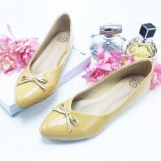 Mymelody รองเท้าผู้หญิงส้นแบน รุ่น MY0001A-BOW (KHAKI)