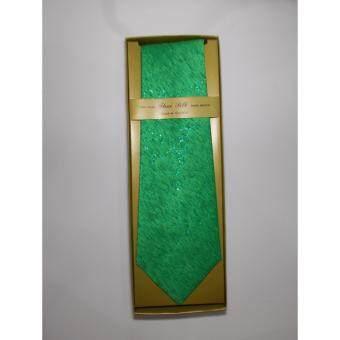 Necktie Thai Silk Hand Vomen - เนคไท สีเขียวลาย