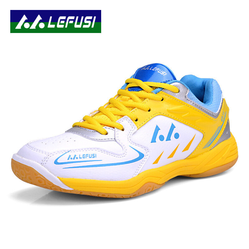 New Sports Sneakers Men Breathable Professional Tennis Shoes Color White & Yellow Size 3 ...