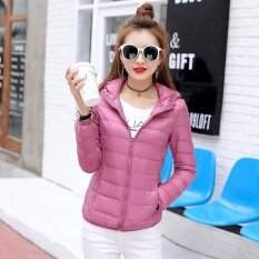 New Winter Autumn Women Duck Down Hooded Jacket Zipper Long Sleeves Slim Light Down Coat - Intl ราคา 695 บาท(-20%)