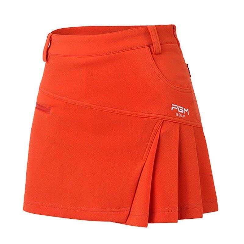 Newest Brand Woman Golf Skirt Summer Clothes Pantskirt Anti Emptied Golf Shorts Fashion Pleated Skirt Safety Wrinkle Shorts (Orange) ...